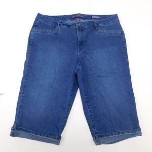 Gloria Vanderbilt 18W Blue Denim Jeans Skimmer Cot